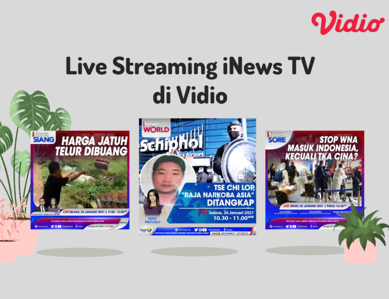 Jadwal Live Streaming iNews TV di Vidio, Update Berita Terkini