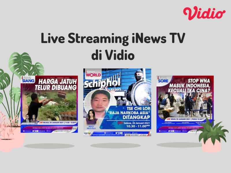 Live Streaming iNews TV di Vidio, Berikut Jadwal Acara Selengkapnya