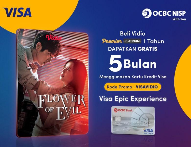Spesial Awal Tahun! Beli Vidio Premier Platinum 1 Tahun Pakai Kartu Kredit Visa OCBC NISP & Dapatkan GRATIS 5 Bulan!