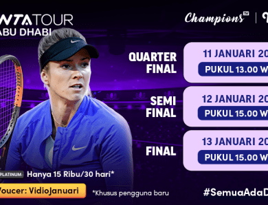 Jadwal WTA Tour Abu Dhabi 2021, Nonton di Vidio