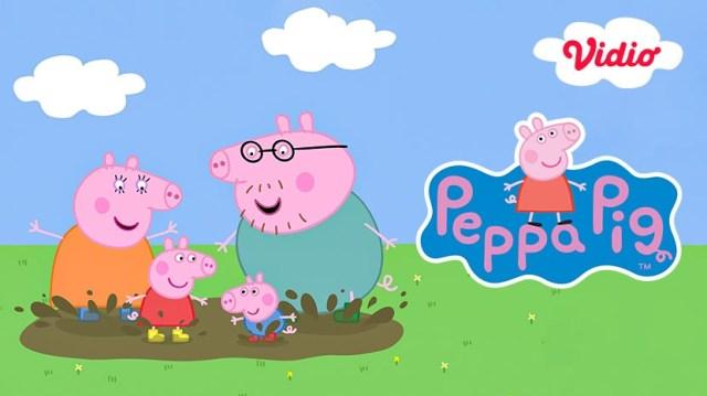 Kartun anak serial Peppa Pig terbaru di Vidio.