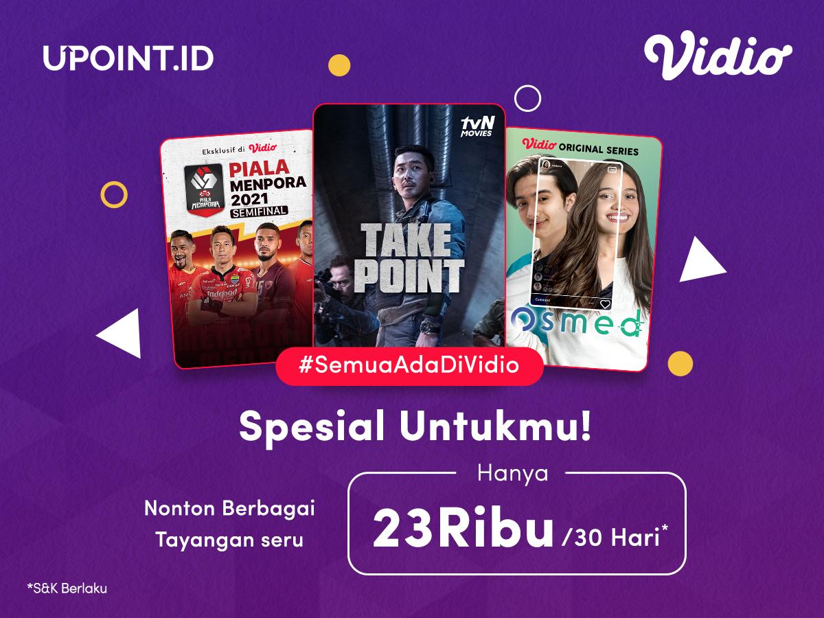 Promo Upoint dapatkan diskon Vidio Premier Platinum cuma Rp 23.000,-