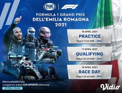 Streaming F1 Italia di Vidio, Ini Jadwal dan Daftar Pembalap yang Bertanding