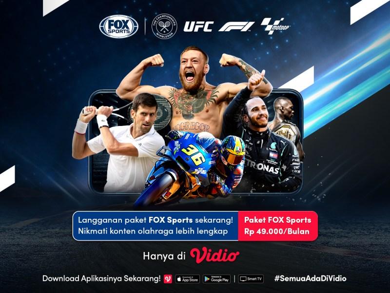 Nonton Fox Sports Kini Bisa di Vidio, Ini Cara Aktifkan Paketnya