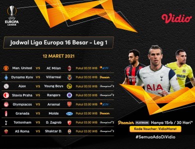 Ini Dia Link Live Streaming Liga Europa Dini Hari Nanti di Vidio, Duel Sengit Manchester United vs AC Milan