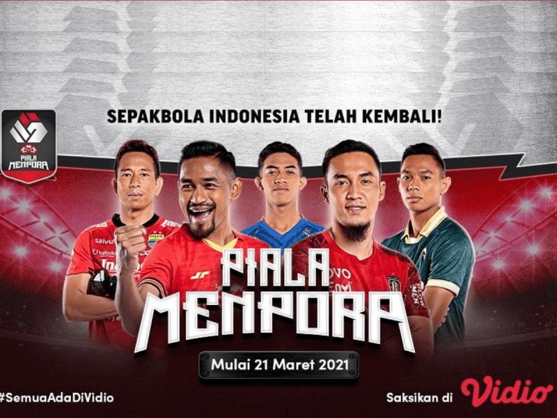 Live Streaming Piala Menpora 2021 Persita Tangerang vs Bali United di Vidio