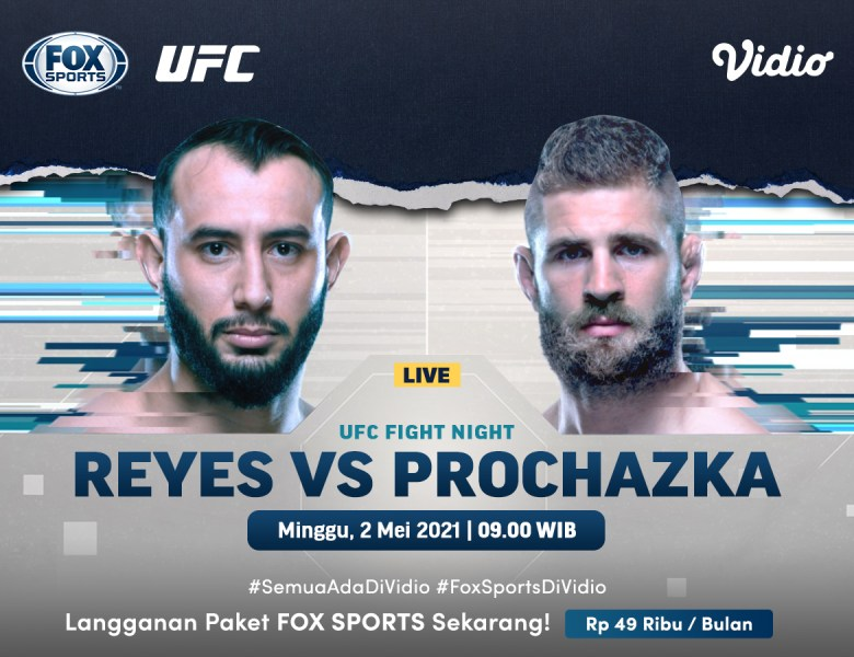Live Streaming UFC Fight Night di Kanal FOX Sports Ekslusif Melalui Vidio