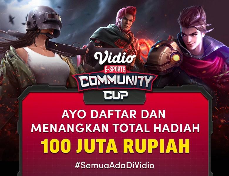 Ikuti Turnamen Esports Vidio Community Cup dan Menangkan Total Hadiah Ratusan Juta, Begini Cara Daftarnya