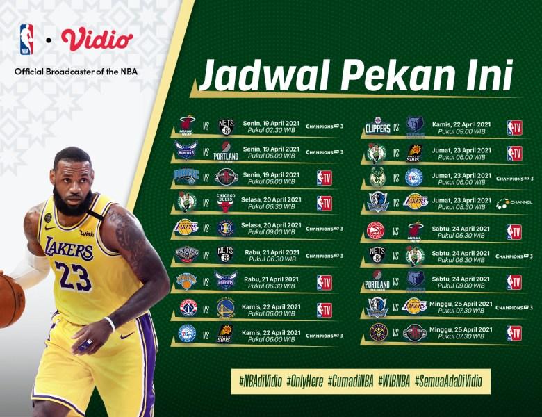 Jadwal NBA Terbaru Serta Berita Terkini di Vidio, Duel Sengit Pekan Ini