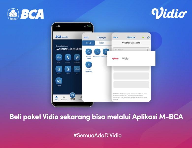Berlangganan Vidio Makin Mudah Dengan aplikasi Mobile Banking m-BCA