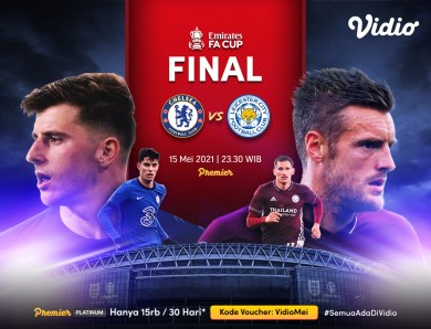 Live Streaming Final Piala FA : Chelsea vs Leicester City di Vidio