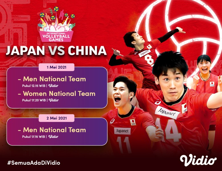 Live Streaming Tokyo Challenge 2021 Volley International Games Eksklusif di Vidio