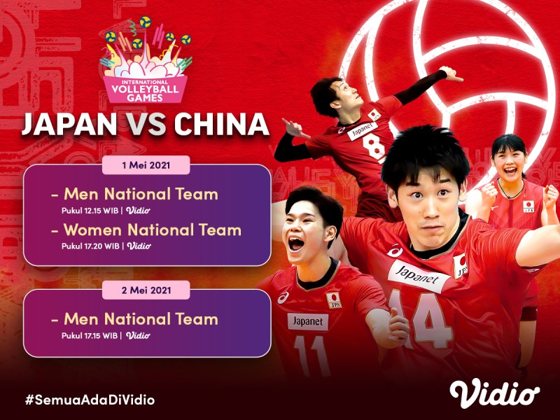 Live Streaming Tokyo Challenge 2021 Volley International Games Eksklusif di Vidio