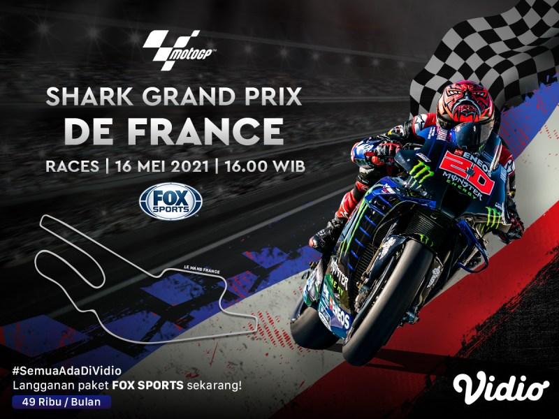 Streaming MotoGP Seri Prancis 2021 Eksklusif di Vidio
