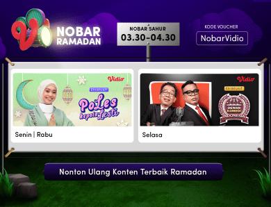 Siaran Ulang Nobar Ramadan di Vidio, Nonton Film dan Drama Gratis