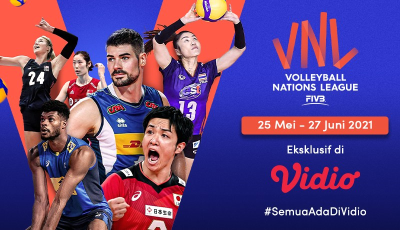 Volleyball Nations League (VNL) 2021 Eksklusif di Vidio