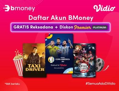 Daftar Akun BMoney, Dapat Bonus Berlimpah dari Vidio!