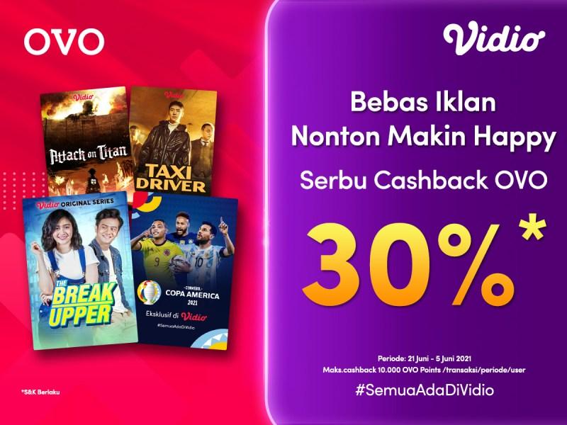 Dapatkan Cashback 30% dari OVO, Beli Vidio Premier Jadi Murah Banget!