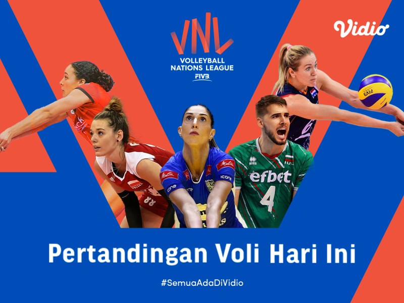 Link Live Streaming VNL 2021: Big Match Italia vs USA, Selasa 15 Juni 2021 Eksklusif di Vidio