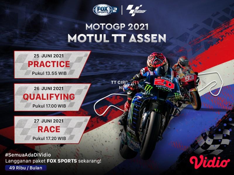 Live Streaming MotoGP 2021 Belanda di Vidio, Minggu 27 Juni