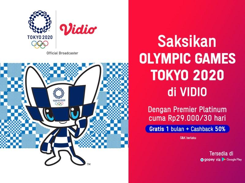 Nikmati Semua Hiburan di Vidio, Beli 1 Bulan Gratis 1 Bulan + Cashback s.d. 50% Bayar Pakai GoPay!