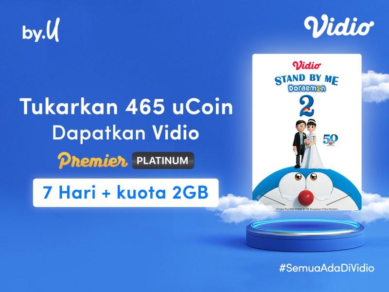 Kumpulkan ByU uCoin, Bisa Dapat 7 Hari GRATIS Nonton Tayangan Eksklusif di Vidio!