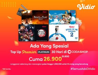 Promo Codashop, Dapatkan Potongan Vidio Premier & Kesempatan Hadiah Pulsa Hingga 1 Juta!