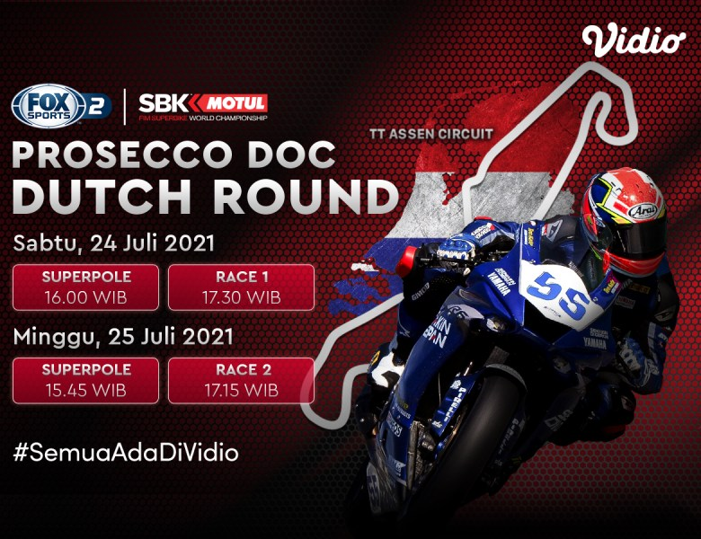 Jadwal dan Link Live Streaming World Superbike Prosecco DOC Dutch 2021 Eksklusif di Vidio