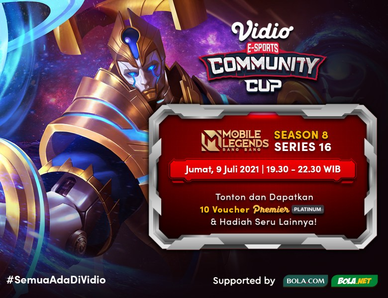 Link Live Streaming Vidio Community Cup Season 8 Final Day – Mobile Legends Series 16
