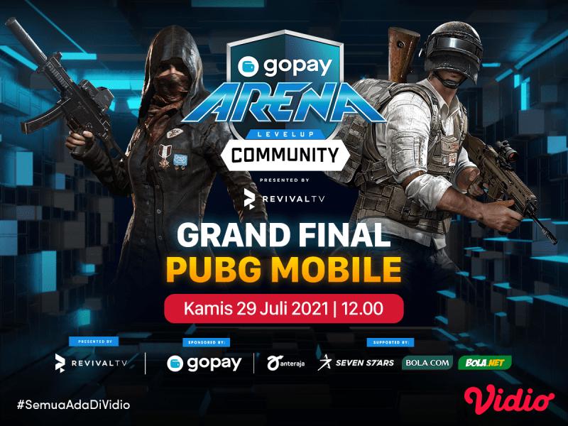 Saksikan! Live Streaming GoPay Arena Level Up Community Grand Final Week 18: PUBG Mobile di Vidio