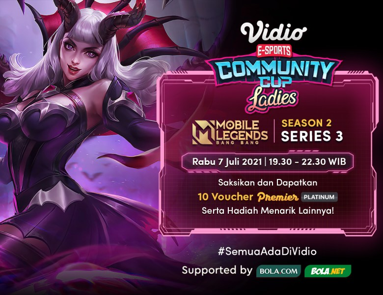 Streaming Vidio Community Cup Ladies Season 2 Mobile Legends Series 3