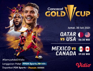 Link Live Streaming Semifinal CONCACAF GOLD CUP 2021 Eksklusif di Vidio