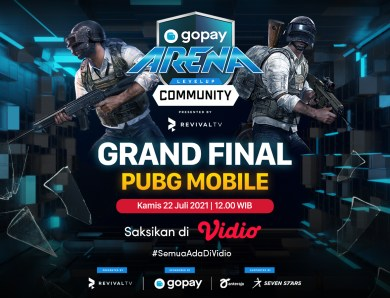 Live Streaming GoPay Arena Level Up Community Grand Final PUBG Mobile Week 17