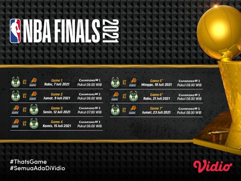 Final NBA 2021: Phoenix Suns vs Milwaukee Bucks, Prediksi, Jadwal Lengkap, dan Link Live Streaming