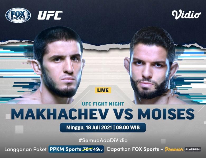 Live Streaming UFC Fight Night: Islam Makhachev vs Thiago Moises, Minggu 18 Juli 2021