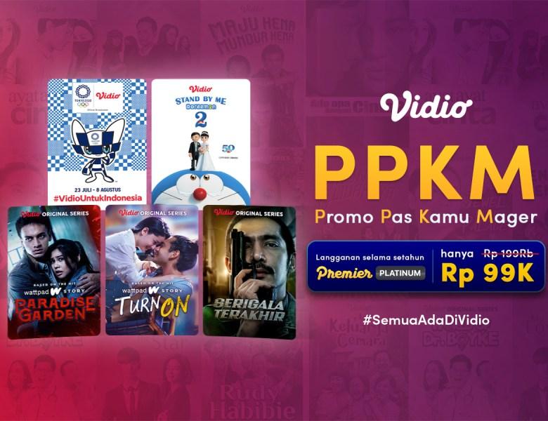 Promo Vidio Selama PPKM, Nonton Original Series sampai Anime Jauh Lebih Murah!