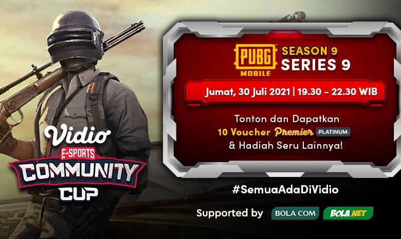 Live Streaming Vidio Community Cup Hari Ini, Season 9 – PUBG Mobile Series 9 Final Day