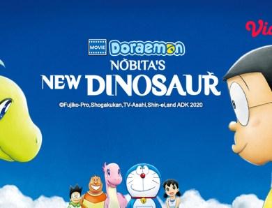 Hadir di Vidio! Kini Kamu Bisa Nonton Film Doraemon The Movie: Nobita's New Dinosaur