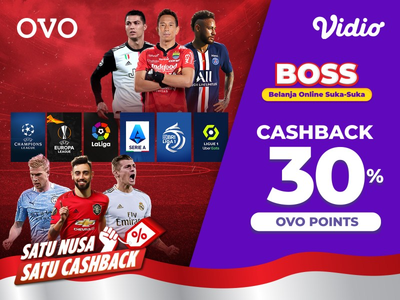 Nonton Liga Champions Sampai BRI Liga 1 Pakai Promo OVO Belanja Online Suka Suka (BOSS)