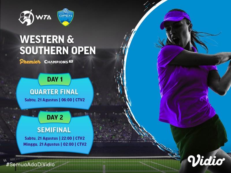 Live Streaming WTA Tour: Semifinal WS Open 2021 di CTV