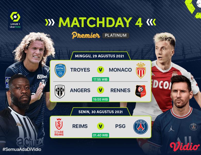 Ligue 1 Live Streaming Liga Prancis Matchday 4 2021