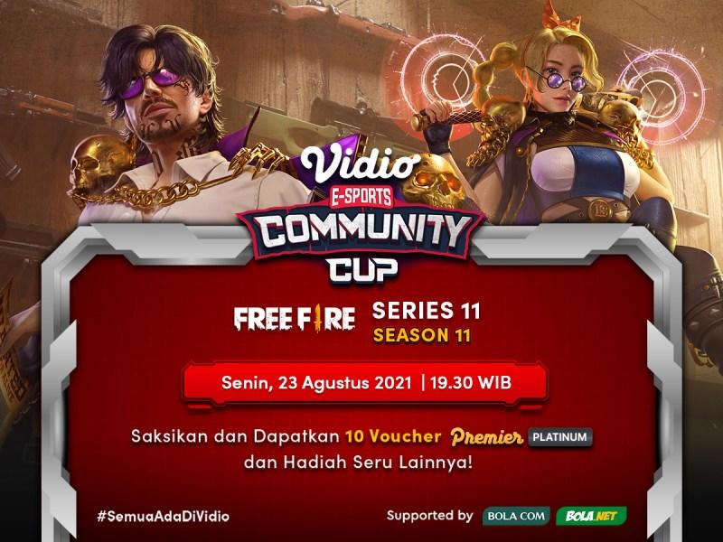 Streaming Vidio Community Cup Season 11 Free Fire Hari Ini