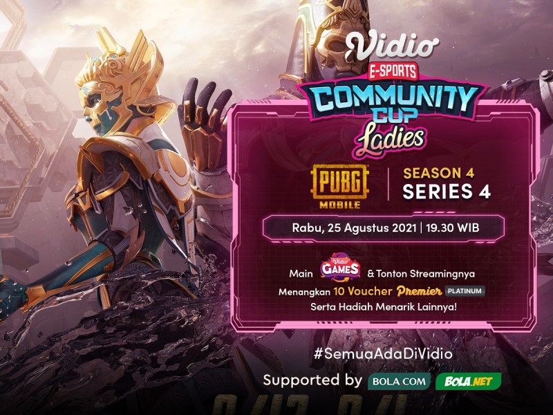 Streaming Vidio Community Cup Ladies Season 4 PUBG Mobile