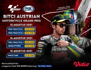 Link Live Streaming MotoGP Austria 2021 FOX Sports