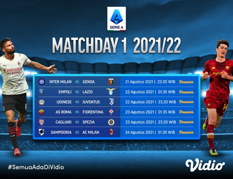 Link Live Streaming Serie A Italia Matchday 1 2021-2022