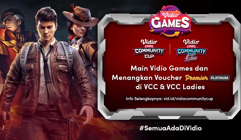 Ikuti Vidio Games Seru di Live Streaming Vidio Community Cup Ladies dan Menangkan Hadiah Menariknya
