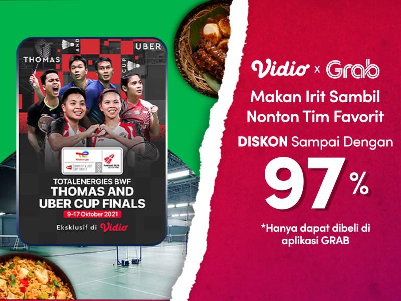 Nikmati Gratis Ongkir, Langganan Vidio Premier Platinum Cuma Di Promo Paket GrabFood!
