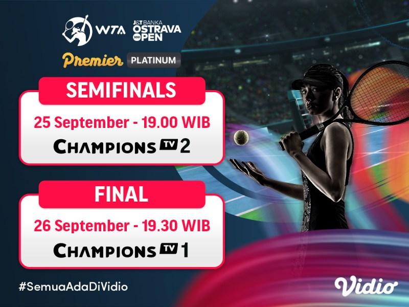 Streaming WTA J&T Banka Ostrava Open 2021 Semifinal dan Final