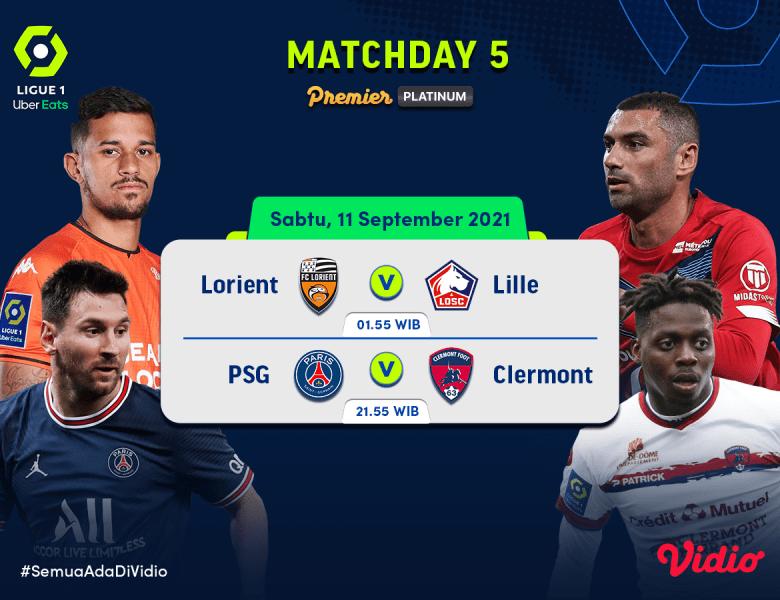 Liga Prancis Ligue 1 Live Streaming Matchday 5 2021