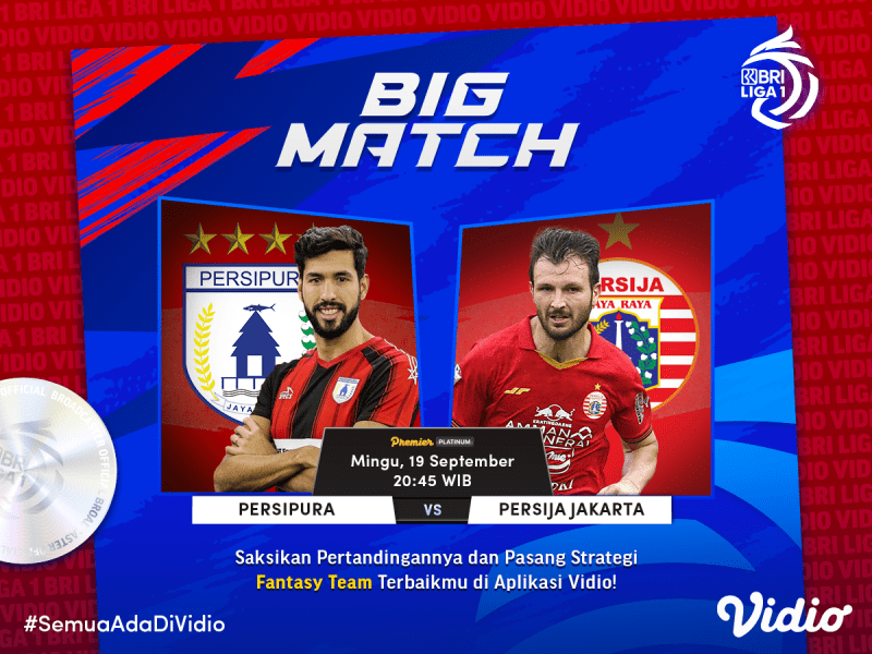 Live Streaming BRI Liga 1 2021 Big Match Persipura vs Persija